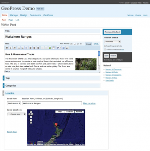 GeoPress for geoblogs